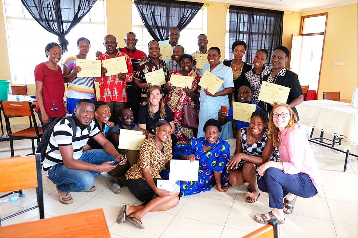 Certified participants after successful training in 2018.