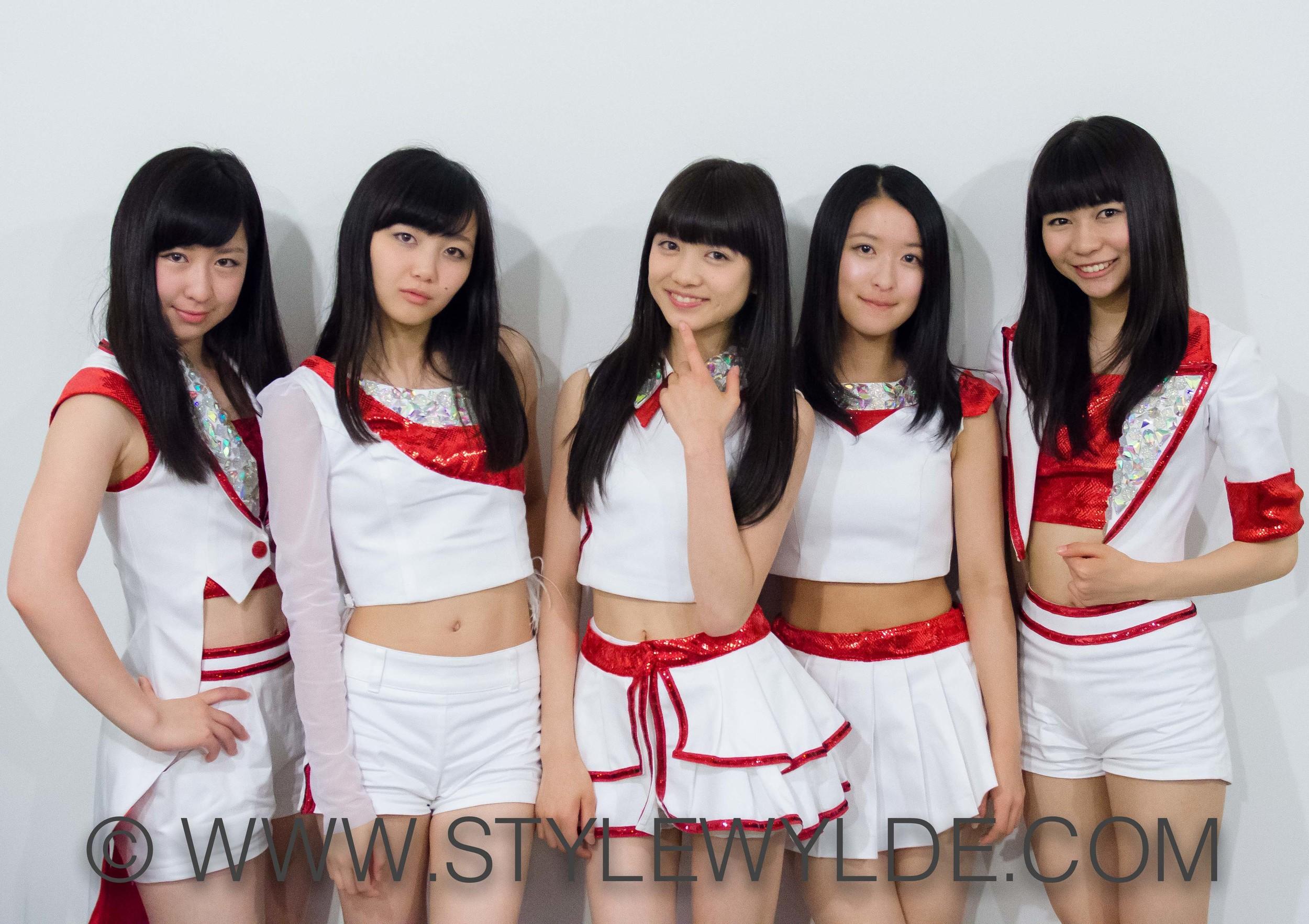 Tokyo Girls Style from left to right: Ayano Konishi, Miyu Yamabe, Hitomi Arai, Yuri Nakae and Mei Shyoji