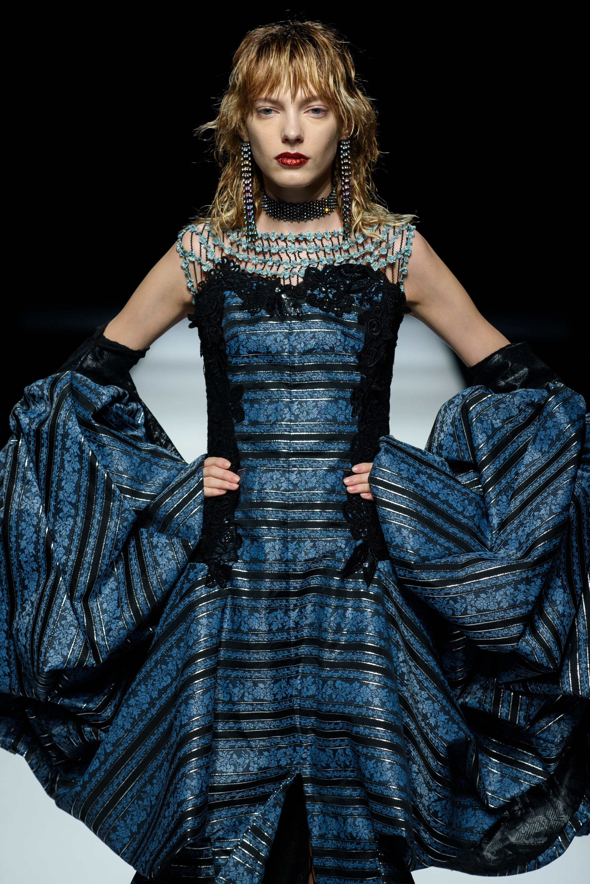 Abundance of Opulence - An opera singer, and an ample array of lavish gowns, the Zin Kato Spring 2018 show was anything but minimalist.