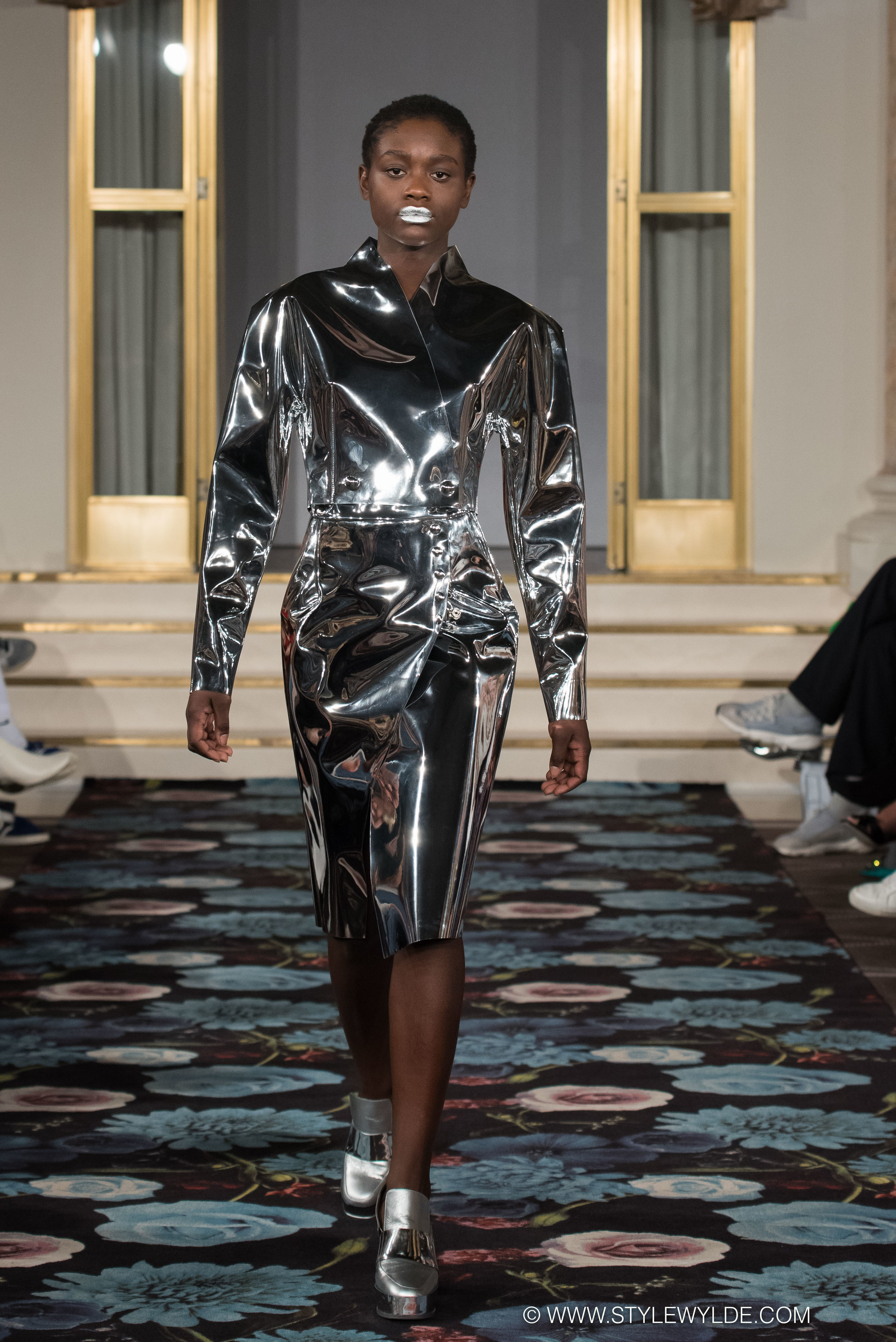 Techno baby - Hi-tech fabrics and futuristic silhouettes made for a fantastic collection of space age looks at the Morten Ussing Fall 2018 show.