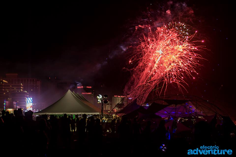 Fireworks lit up the skyending the night, while artists closed their performances, and allweresurrounded by friends.               Photo Credit:  Electric Adventure Photography