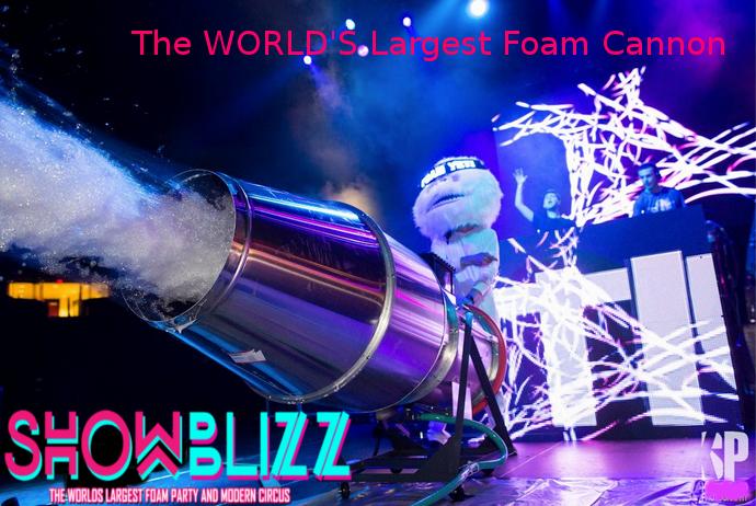 World's Largest Foam Cannon