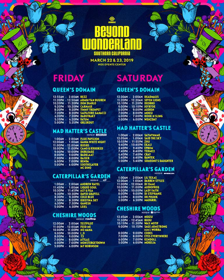 Beyond Wonderland 2019: Set Times, Spotify Playlist and Map