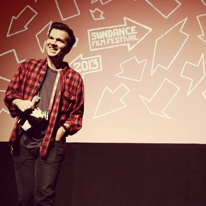 David Andalman at the American Milkshake premiere, Sundance Film Festival