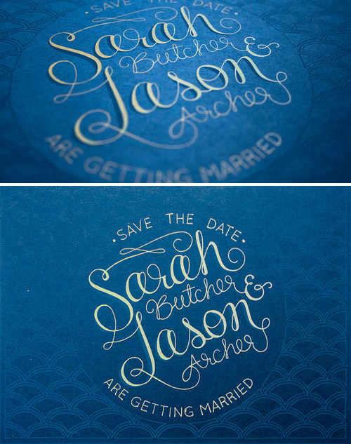 Sarah & Jason   |  design and screen printing