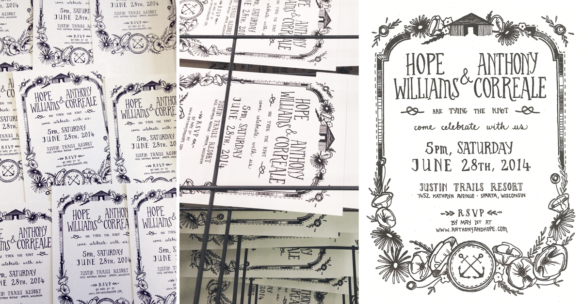 Hope & Tony   |  design and screen printing