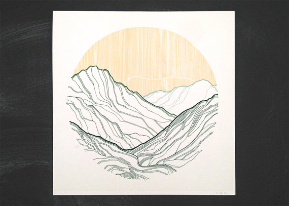 Take Me To The Mountains #1   | screen print