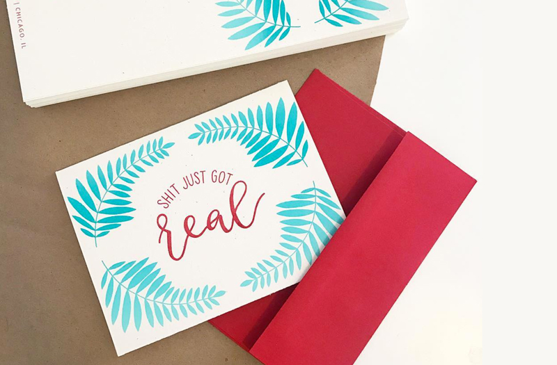 card | design and screen printing