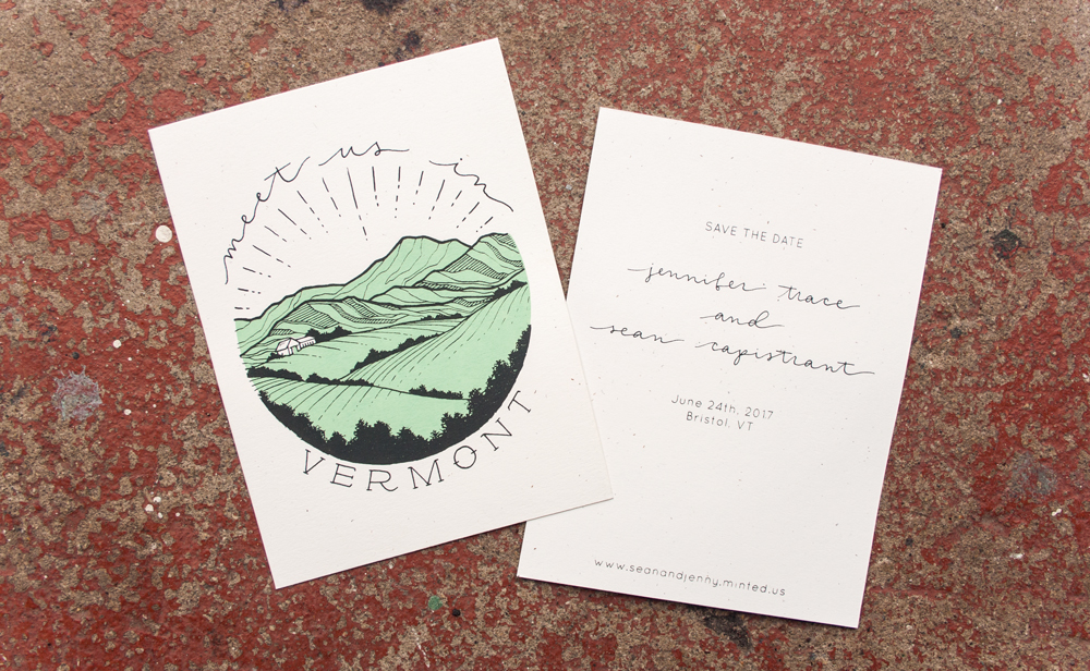 Jenny & Sean   |  design and screen printing