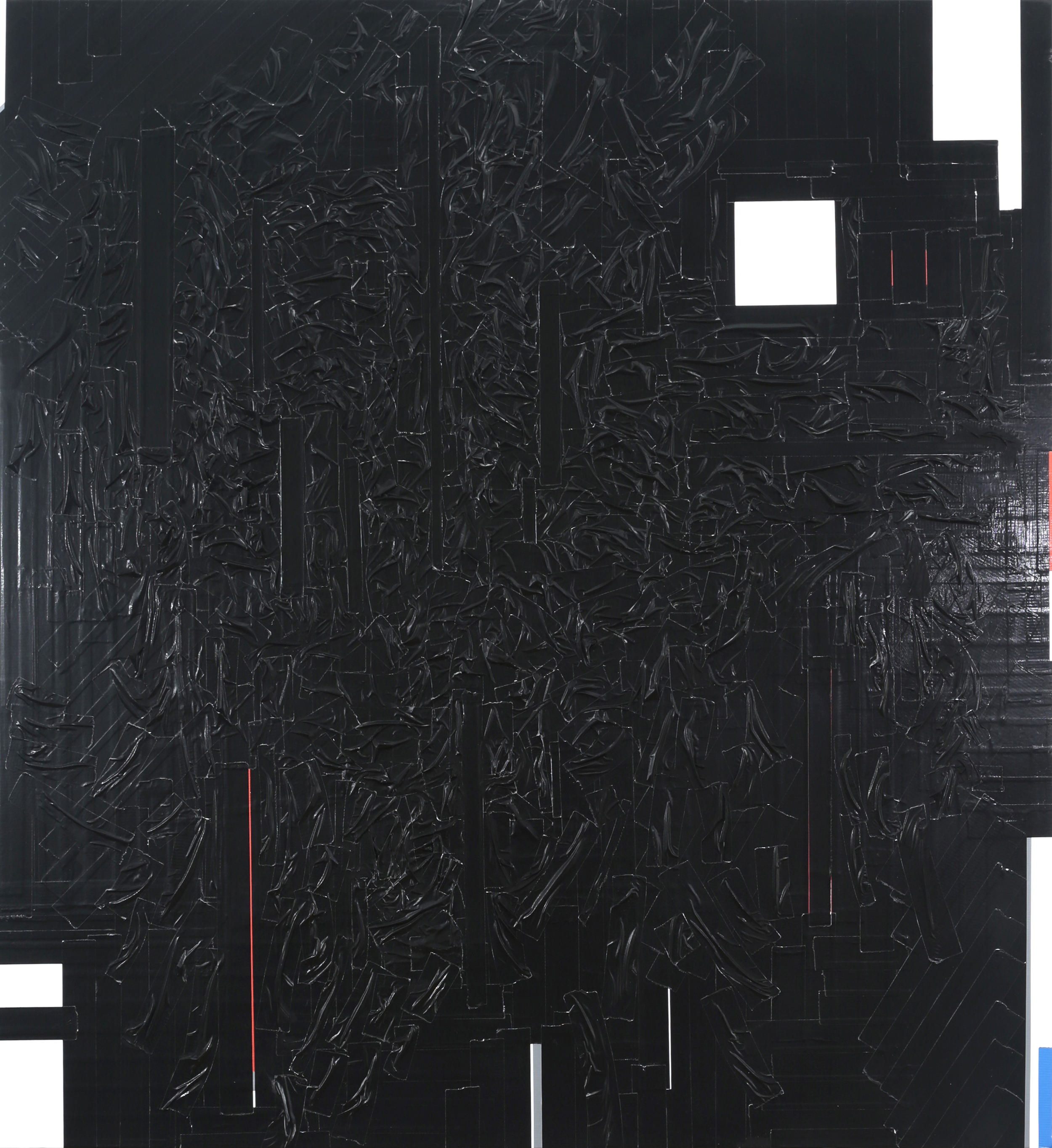 Duct Tape Painting (Black), 2013