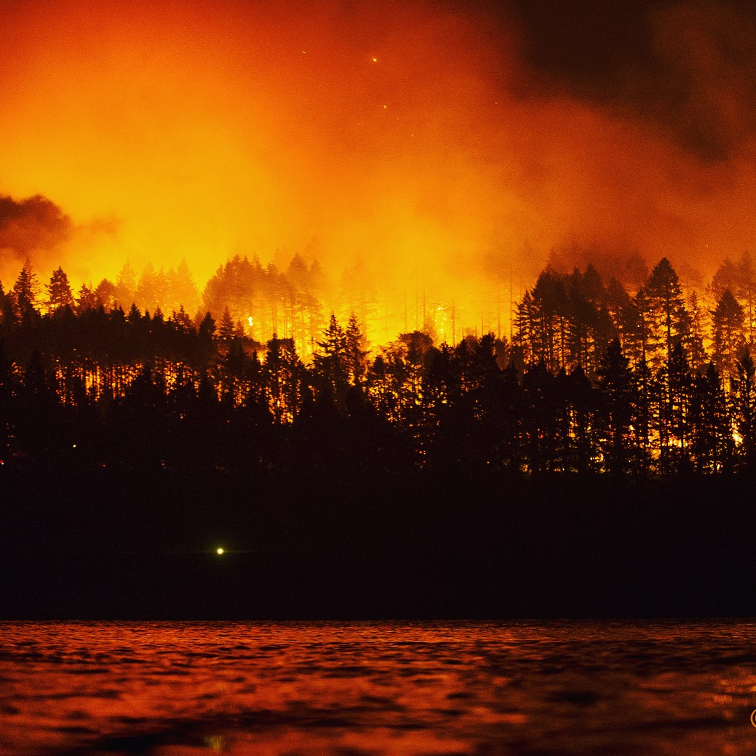 Eagle Creek Fire has been burning some of our country's most spectacular scenery since Labor Day weekend - in our Oregon front yard.   Photo by Richard Hallman, freelanceimaging.com