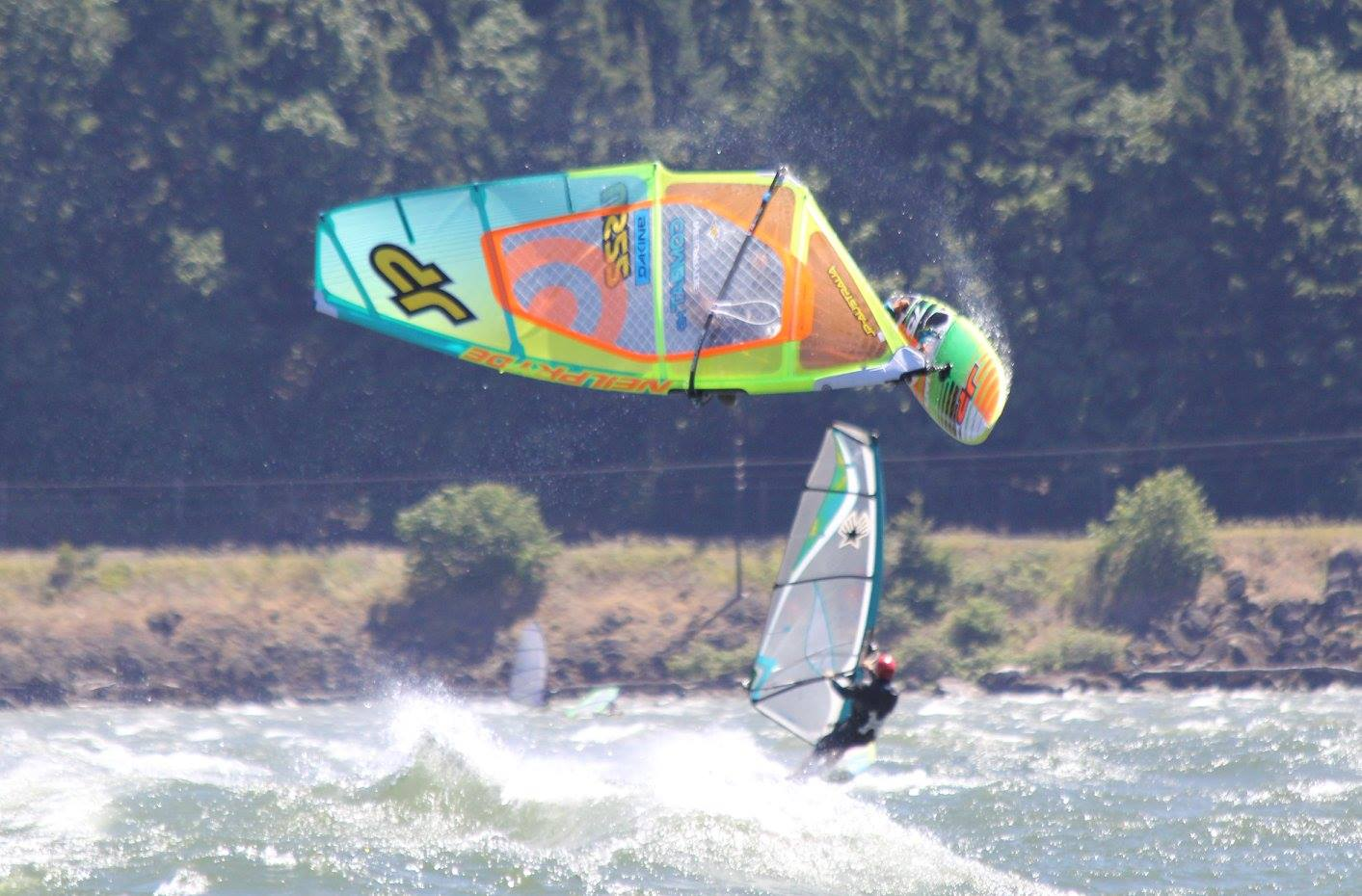 The Columbia River Gorge- windsurfing capital of the world - today.