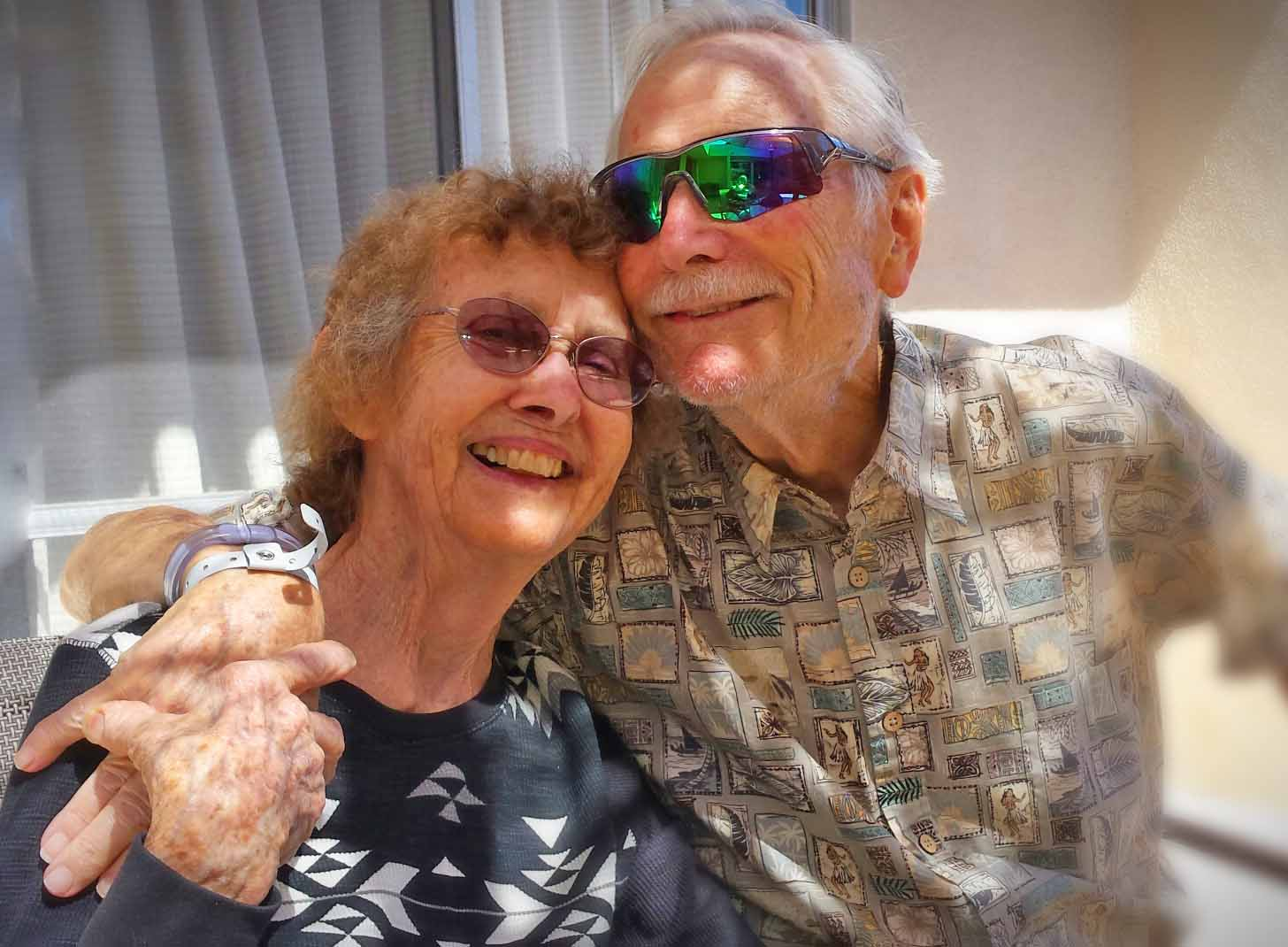 Cutest couple ever. Of all time. Love you, Grandpa/dad, Grandma/mom.  Photo: (c) Barb Ayers, DogDiary.org