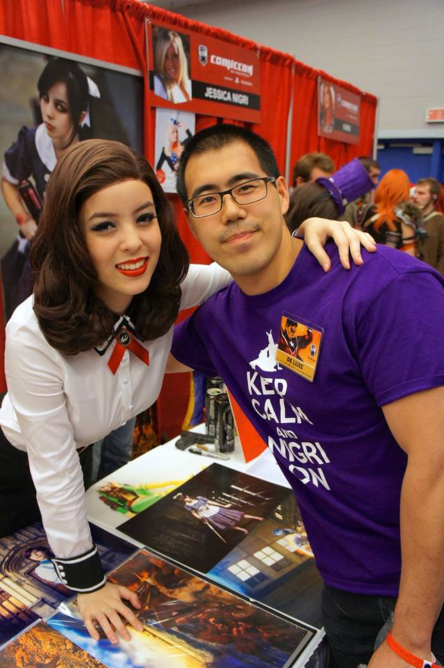 Me and long-time fan Henry Wong at Montreal Comic Con in 2013.