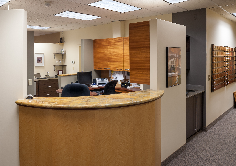 Steven Cabinets Reception Desk