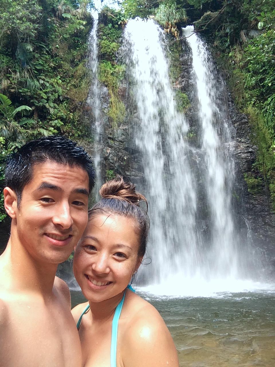 Sheena and I at Tataki Falls