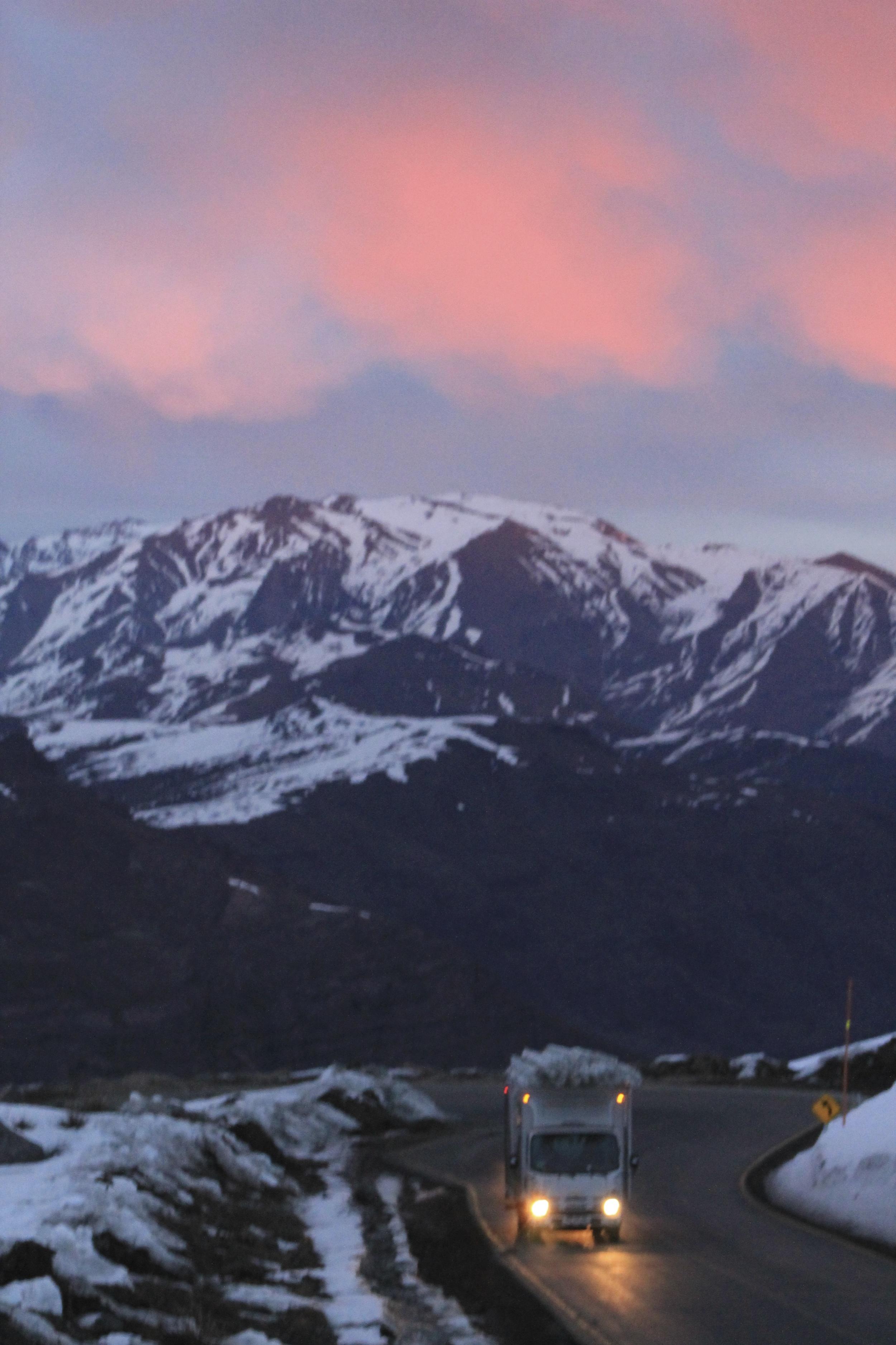 The sun setting on Santa Tere