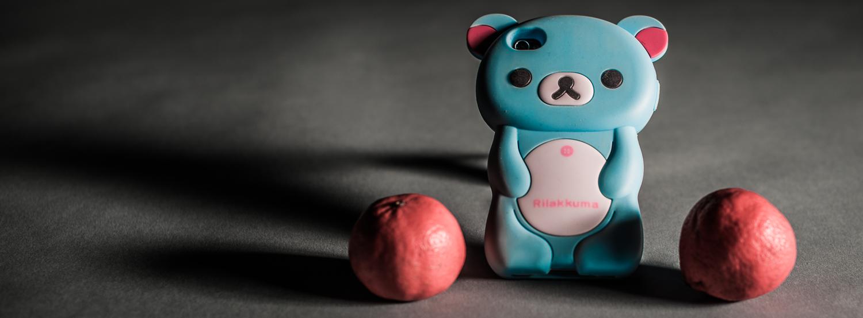 Los Angeles = Rilakkuma bear  iPhone cover with citrus