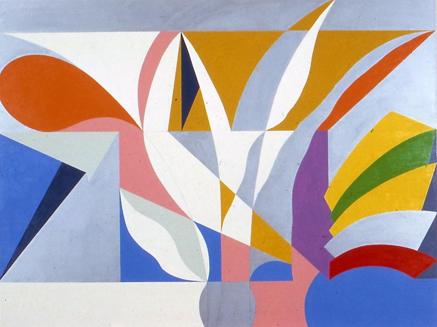 "Triumph, 1983-84, oil on canvas, 80""x108"""