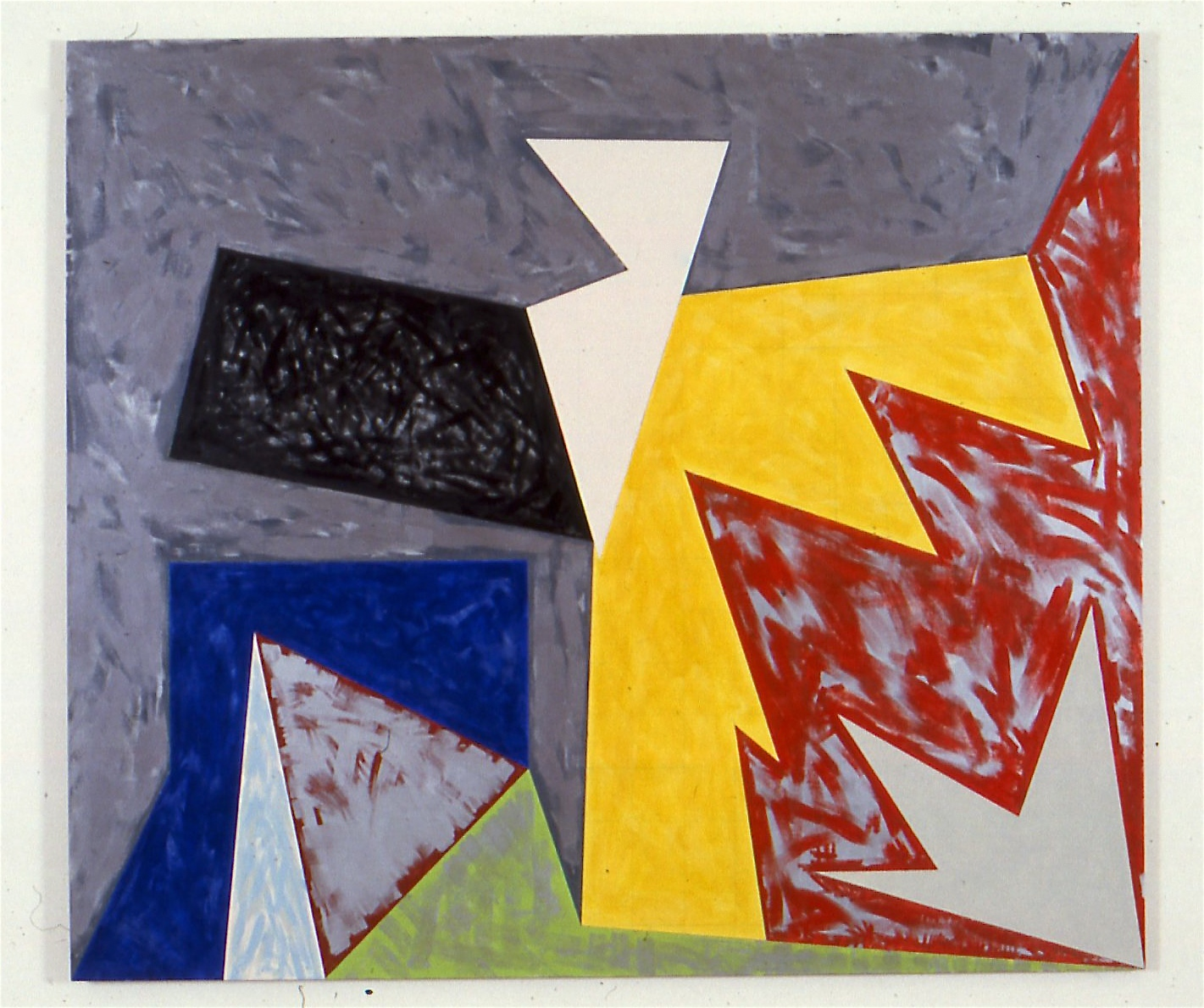 "Broken Cross, 1984, oil on canvas, 81""x94"""