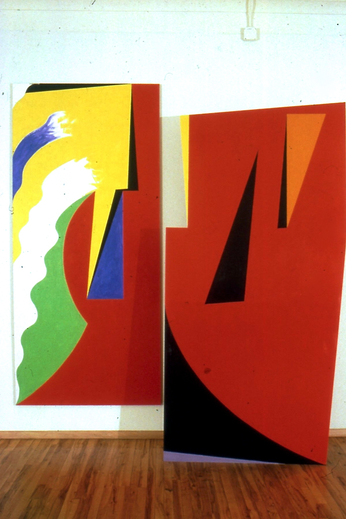 """Evasion, 1985, oil on wood and linen, 120""""x107"""""""
