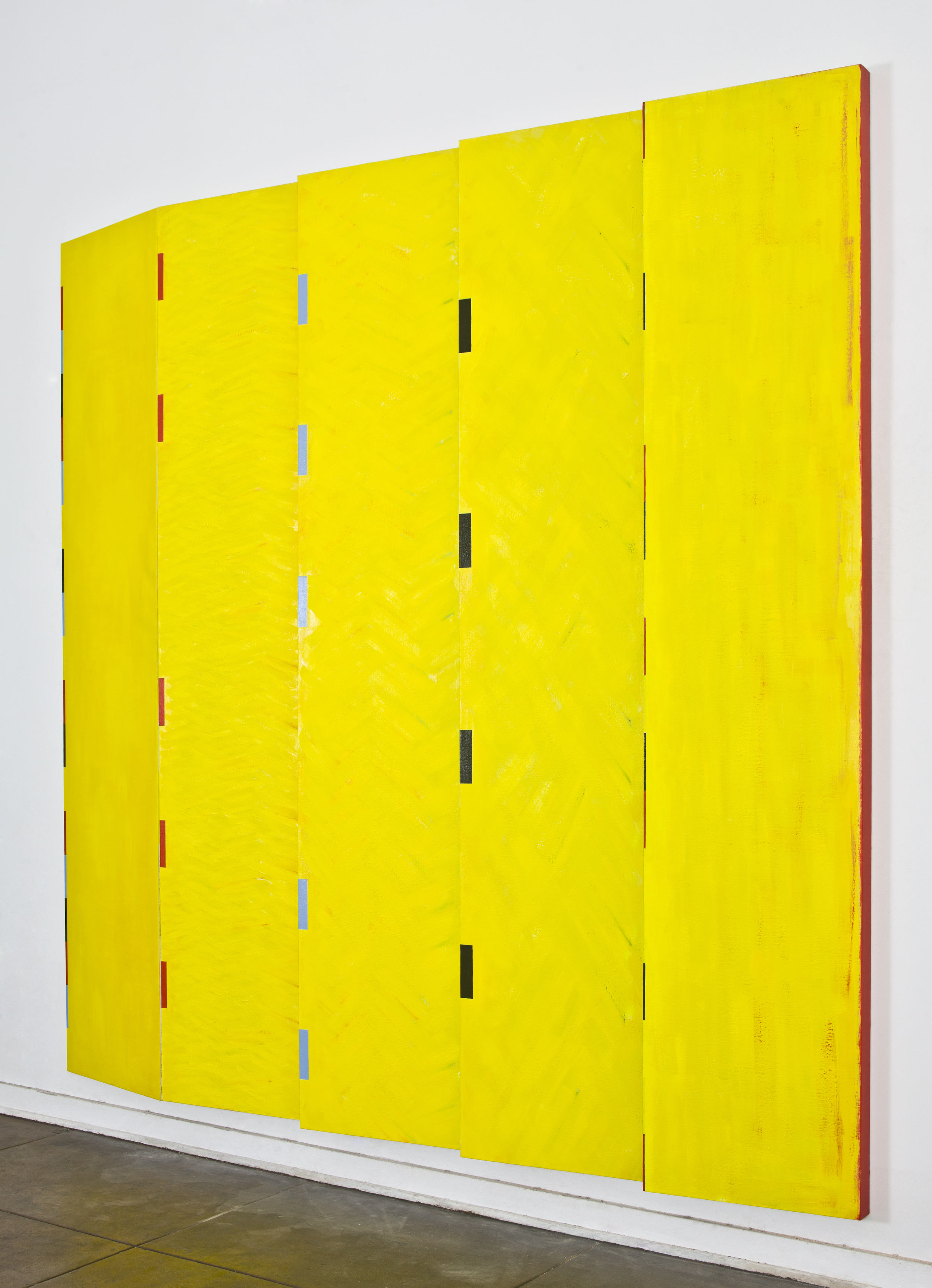 "(multi paneled) Simple Progression, 1991, oil on linen, 95""x""95""x4"""