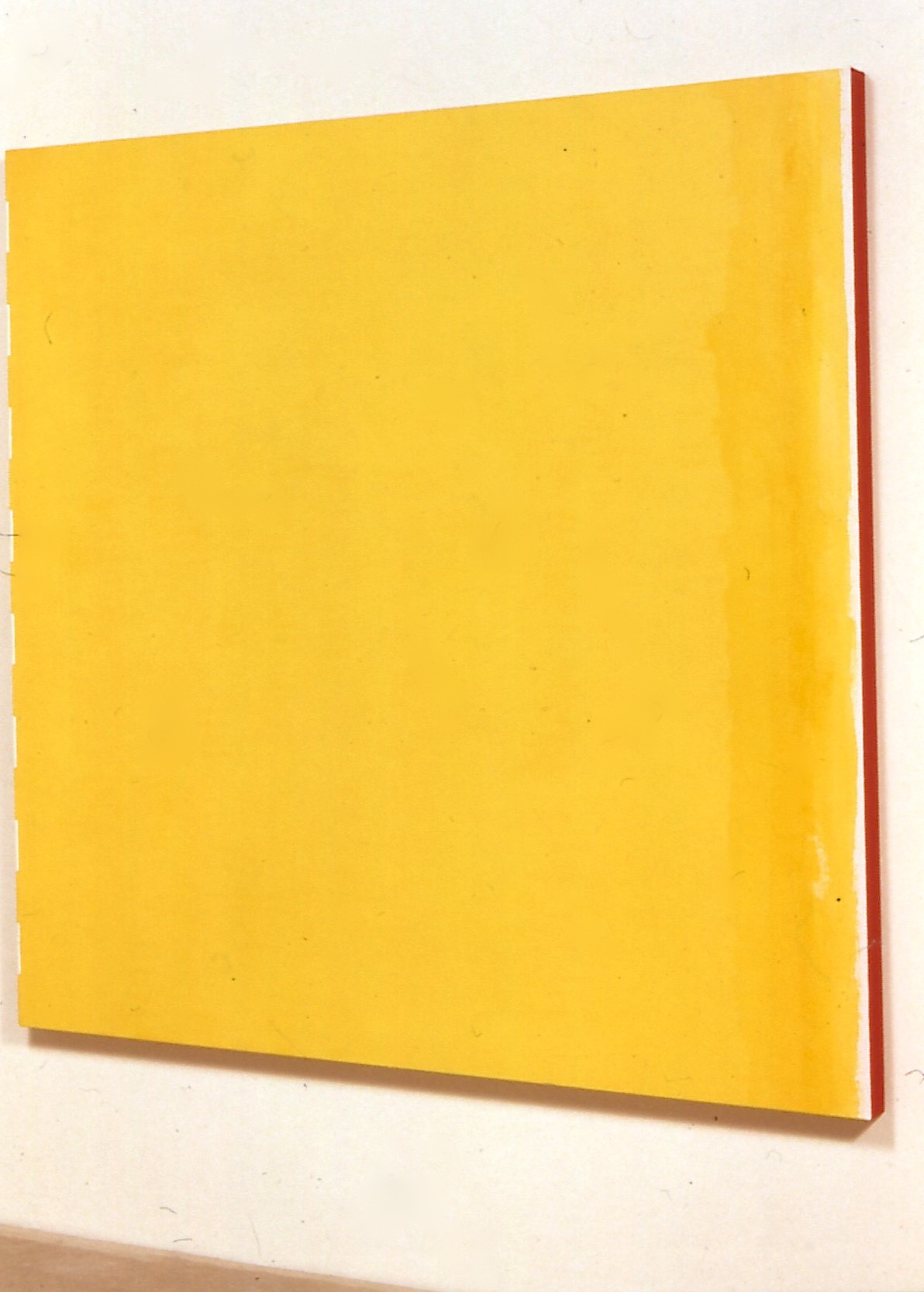 "Tranquil and Impure Yellow, 1991, oil on linen, 68""x68""x2"""