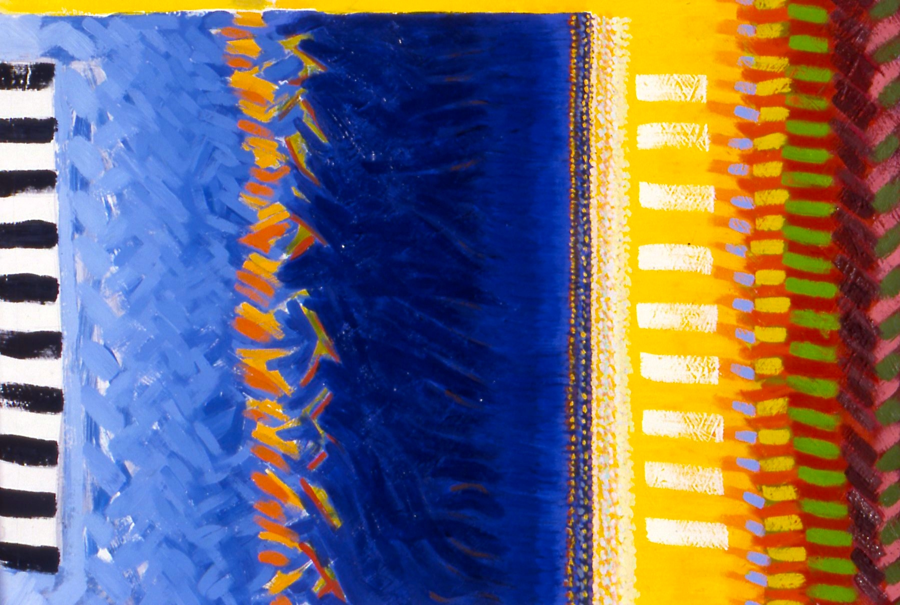 "Blue Square (Reggae Painting), 1996, oil on canvas, 22""x30""x1"""