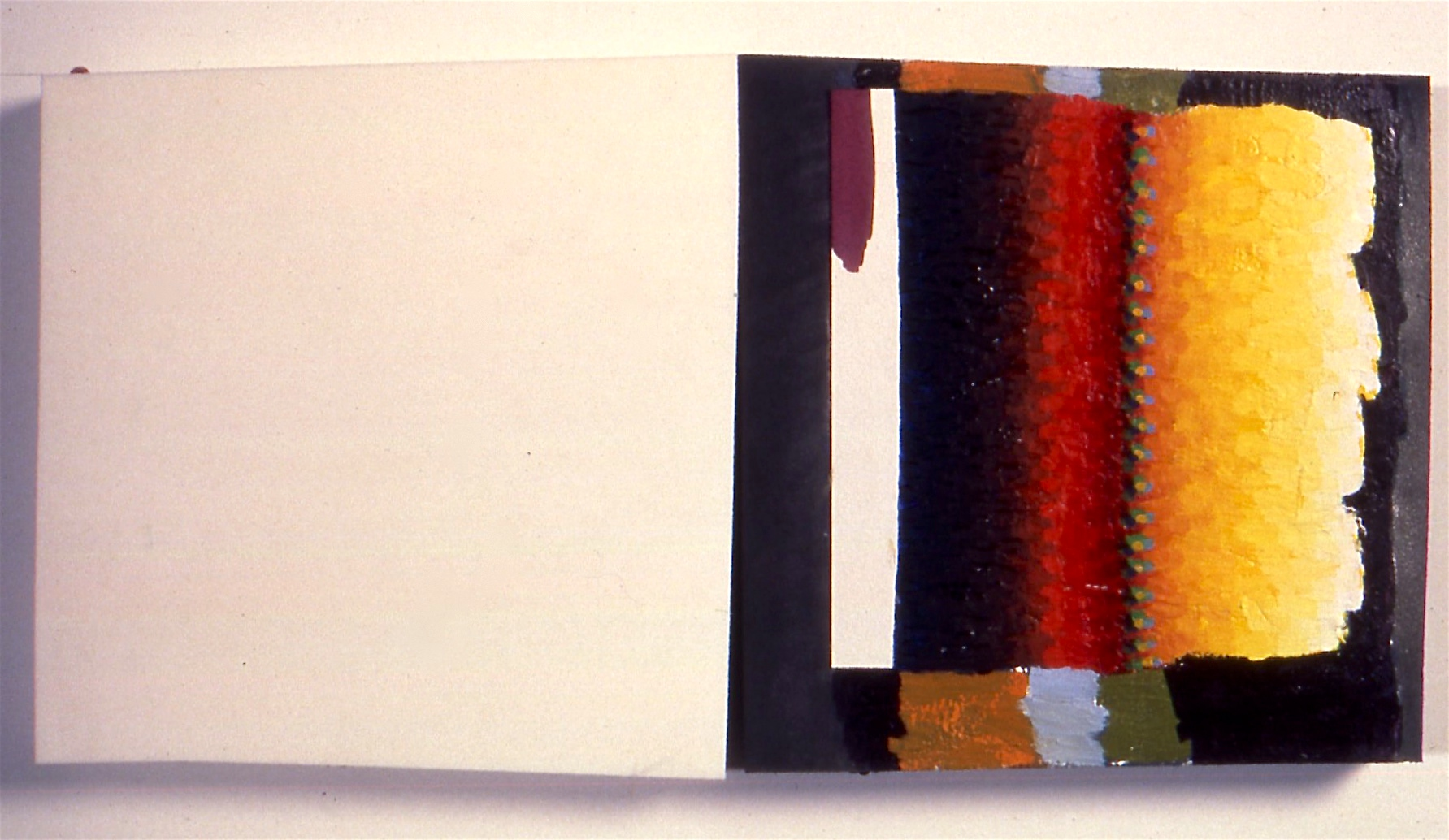 "Compliment, 1996, oil on rubber, 12 1/2""x26""x2"""
