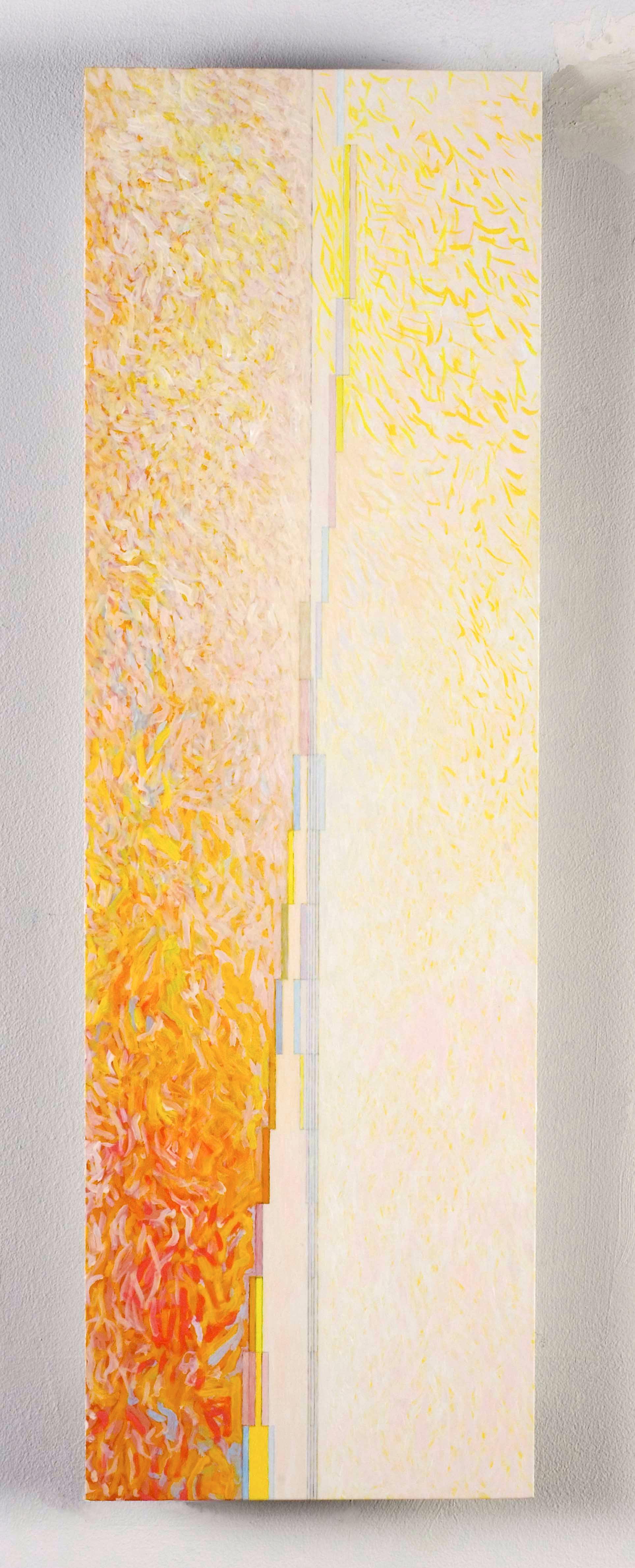 "Friedrich, 2006, oil on aluminum panel, 28 1-2""x9""x1/4"""