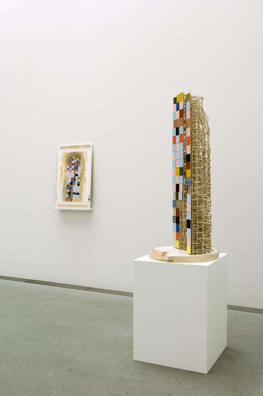 Installation: Stage set for Munich Gouache and Model, Pinakothek der Moderne, Munich, Germany