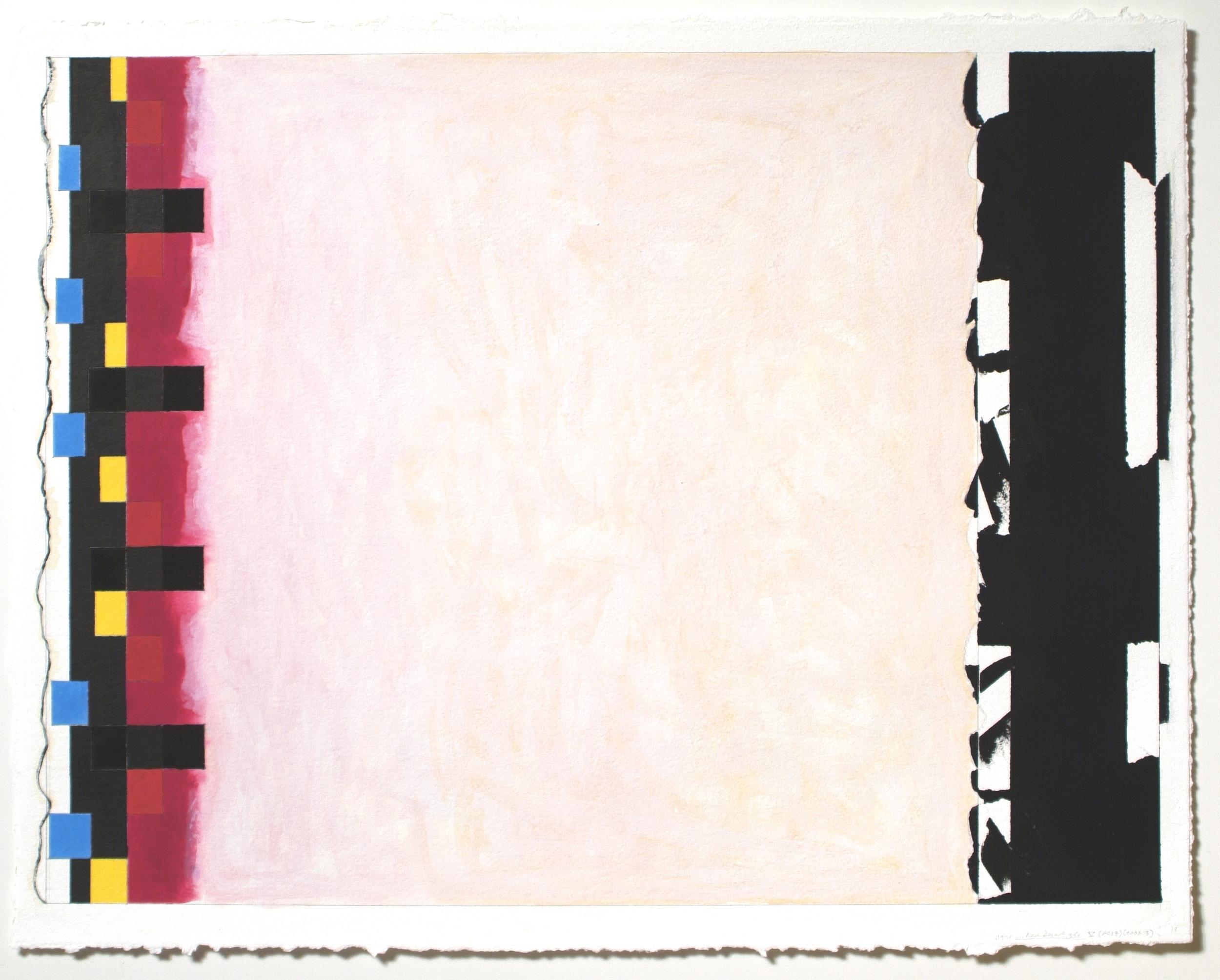 """Untitled... Red Desert, etc. V (PG27), 2002-03, gouache on paper. 20 3_16_ x 27_ (image), 22""""x28"""" (paper)"""