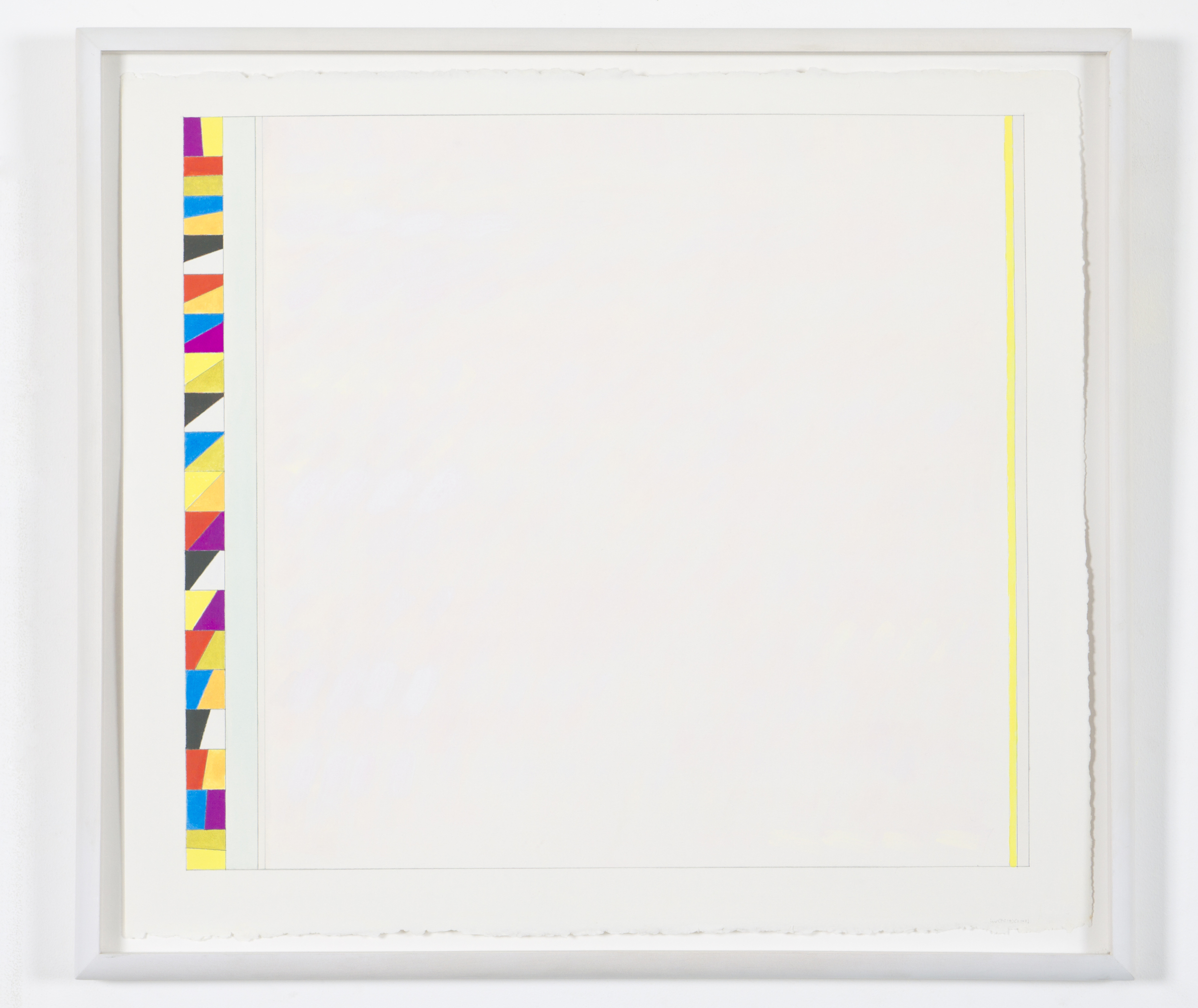 """Untitled (PG 14), 2002, gouache on paper, 20 3/16""""x22 5/8""""(image), 23 1/8""""x26"""" (paper)"""