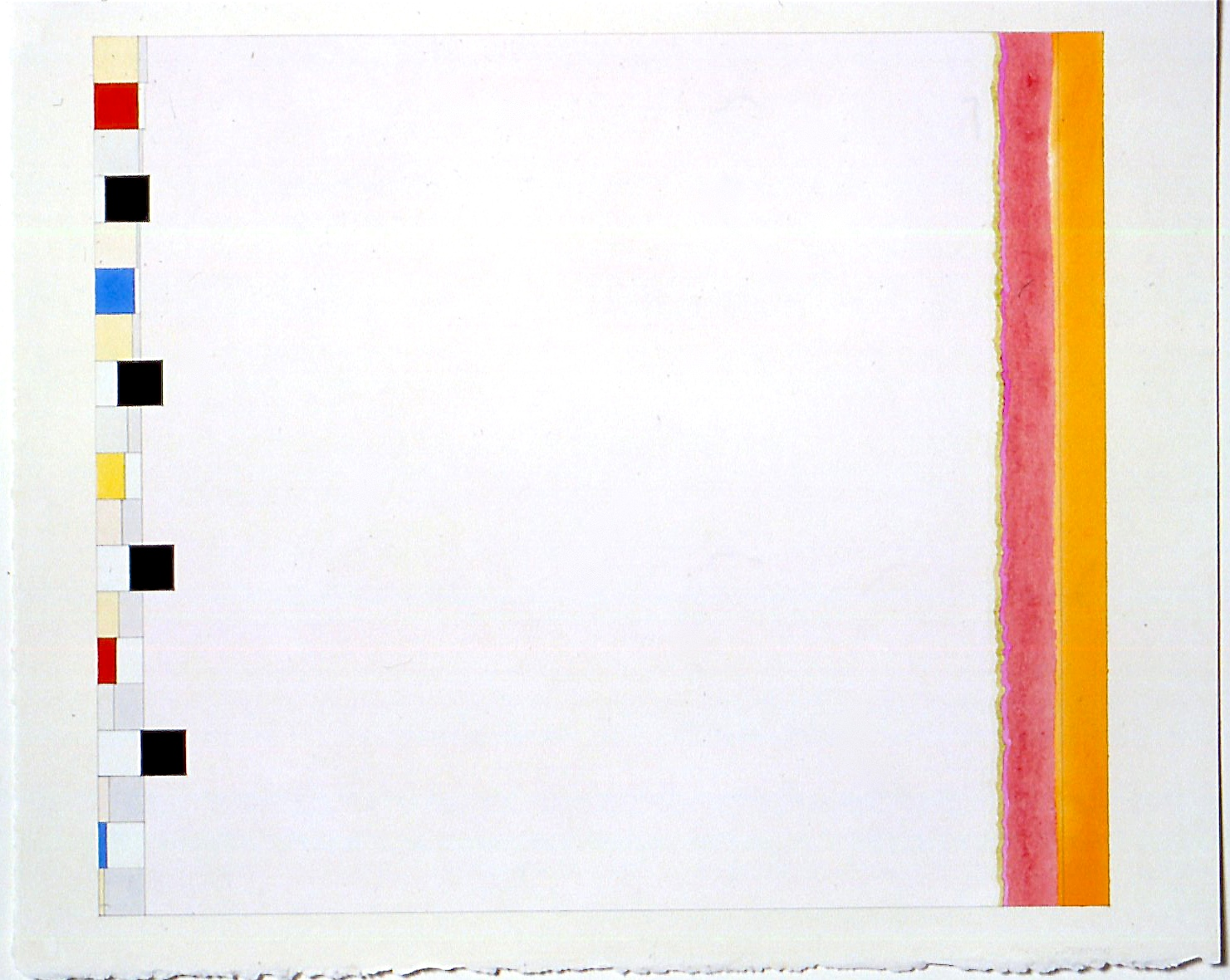 """Untitled (PG17), 2002, gouache and watercolour on paper, 20 3/16""""x23 3/4""""(image), 23 1/2""""x28 3/8"""" (paper)"""