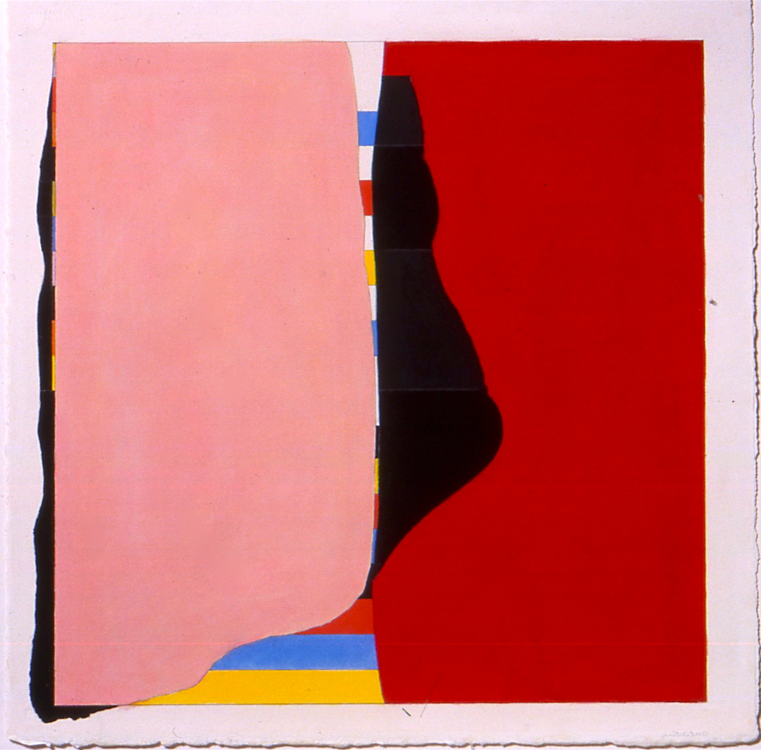 """Untitled (PG 28), 2003, gouache on paper, 28 5/8""""x21"""" (image), 23 1/8""""x23 1/8"""" (paper)"""