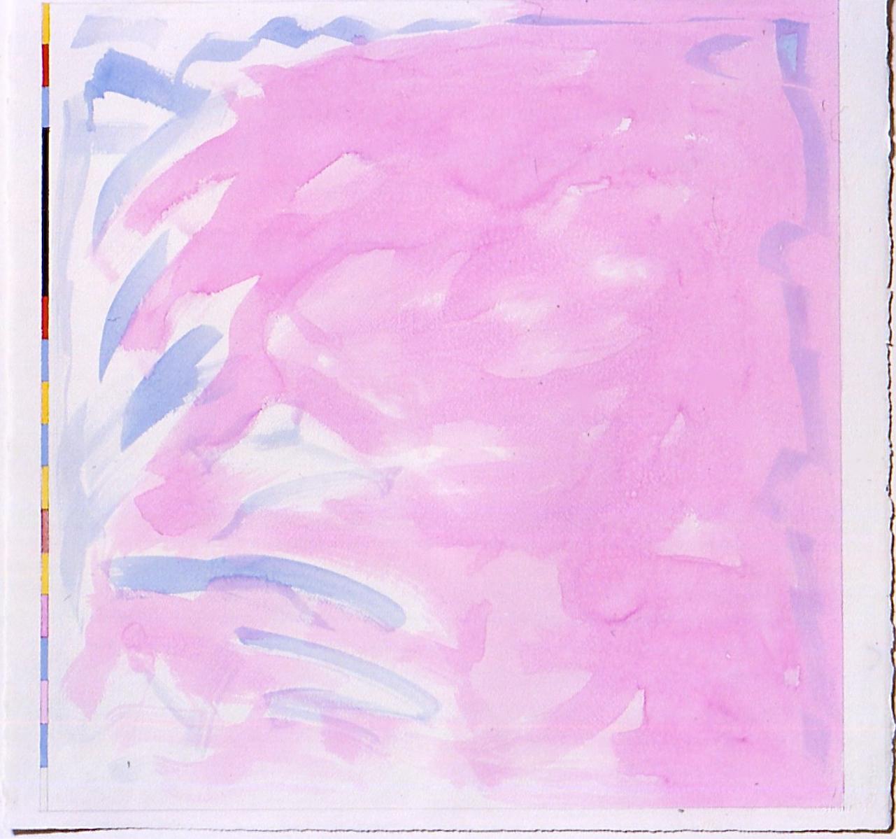 "Lagoon (PG38), 2004, gouache on paper, 20 1/4""x20 1/4"" (image), 20 7/8""x22 3/8""(paper)"