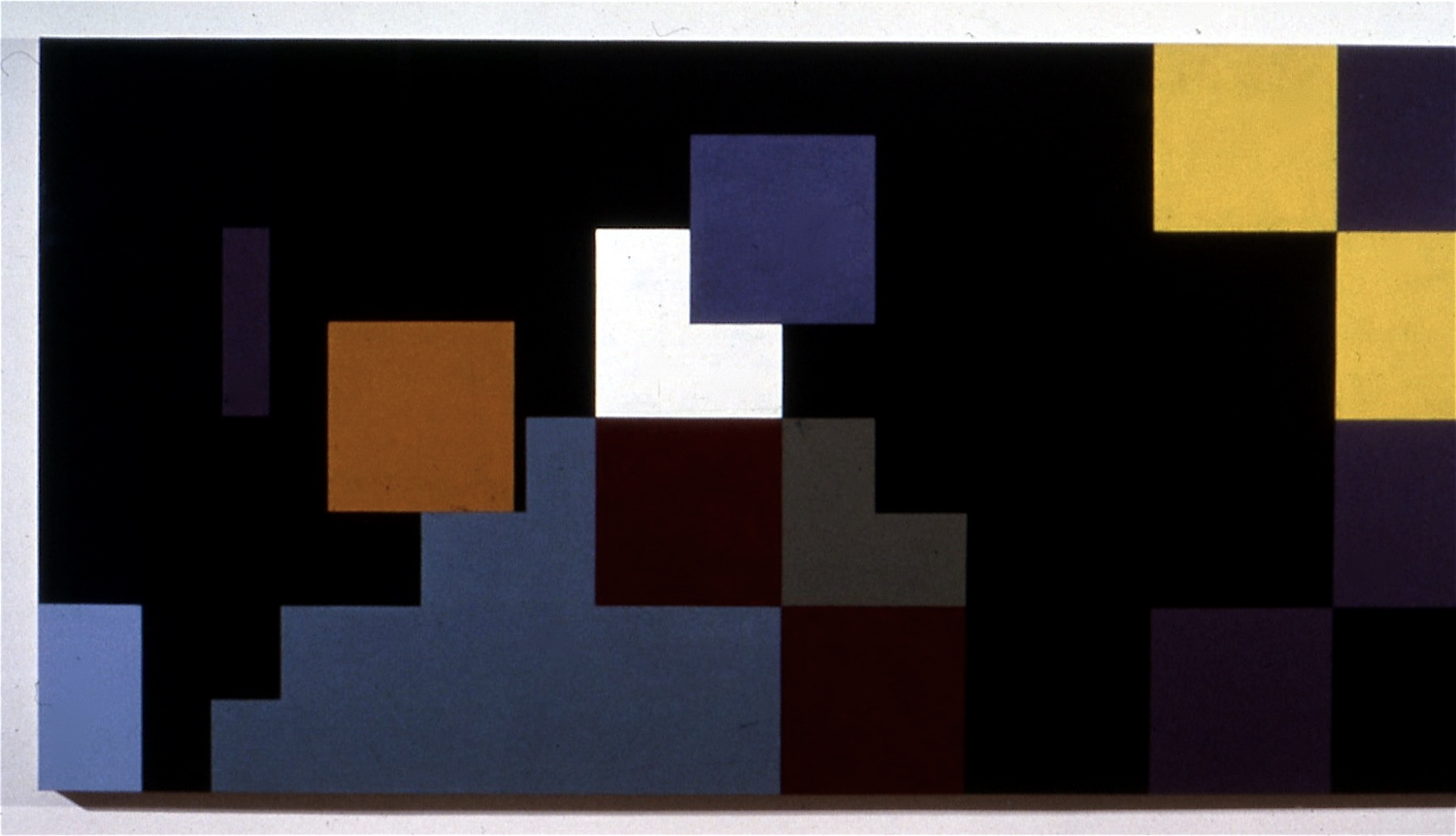 """Montales Shadow (Remembering Tom Hess), oil on canvas, 56""""x121"""""""