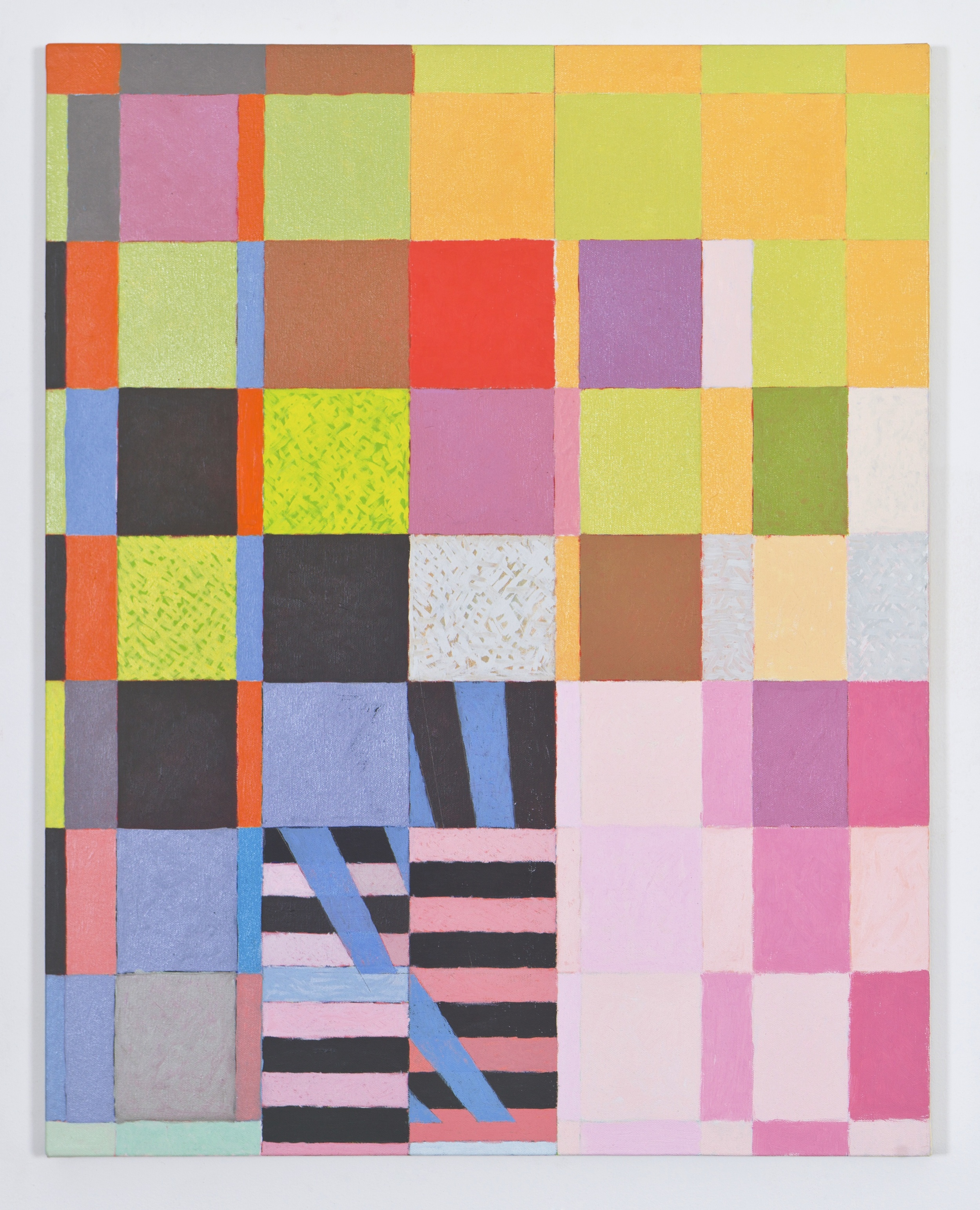 """Fragmentary Study for More 1, 2010, oil on canvas, 30""""x24"""""""