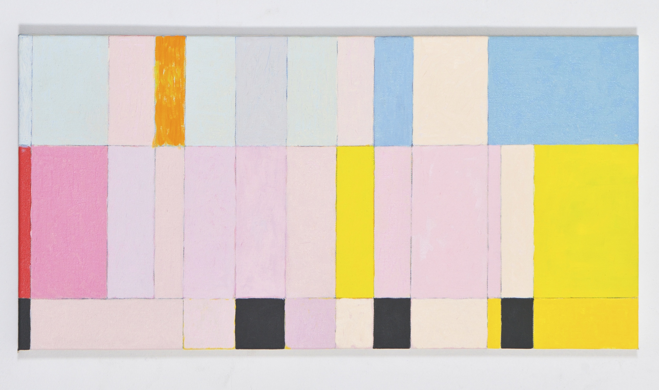 """Fragmentary Study for More 2, 2010, oil on canvas, 12""""x24"""""""