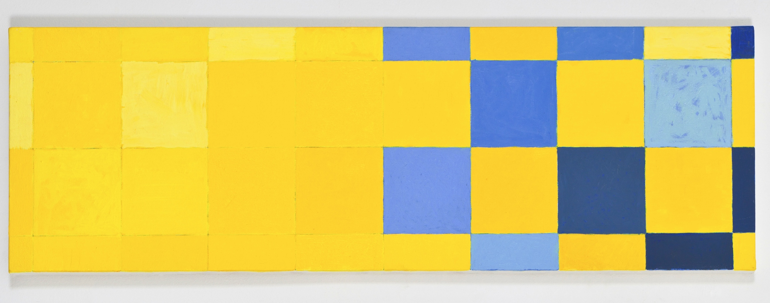"""Fragmentary Study for More 4, 2010, oil on canvas, 10""""x30"""""""