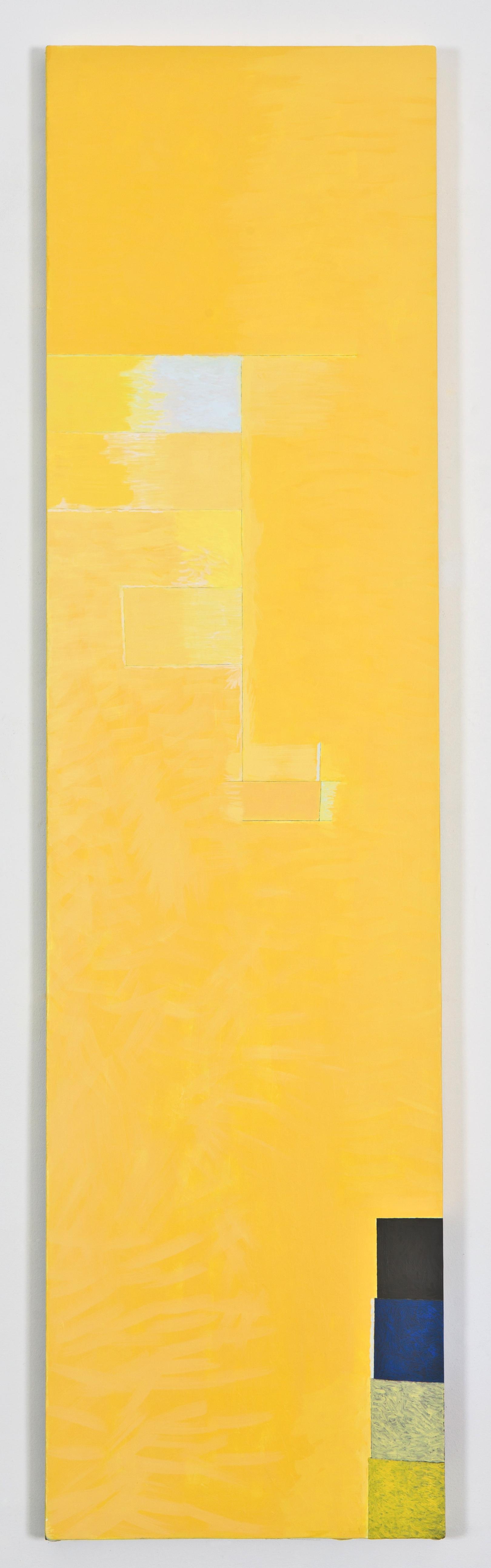 """Breathless, 2012, oil on linen, 66 1/2""""x17 1/2"""""""