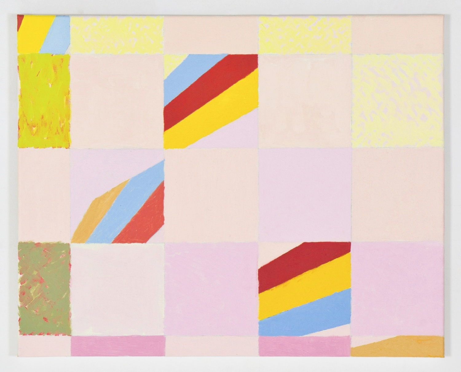 """Fragmentary Study for More 8, 2010, oil on canvas, 16""""x20"""""""