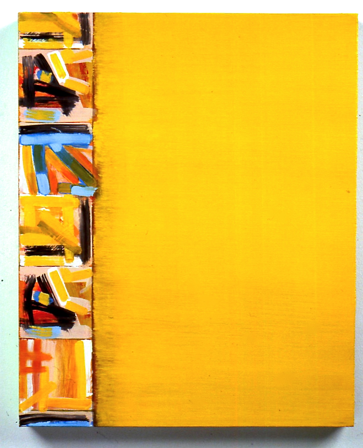 "Fragment 1, 2000, oil on canvas, 20""x16""x1 3/8"""