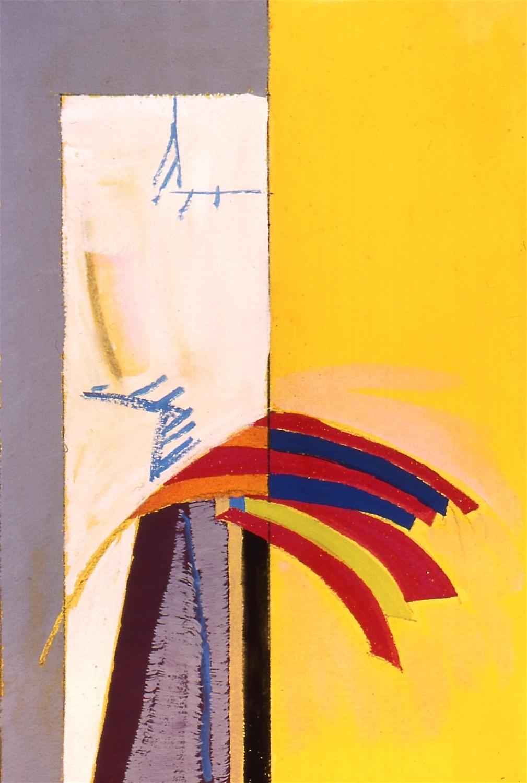 "Sketchbook, 2000, gouache on paper, 9 1/2""x6 1/4"""