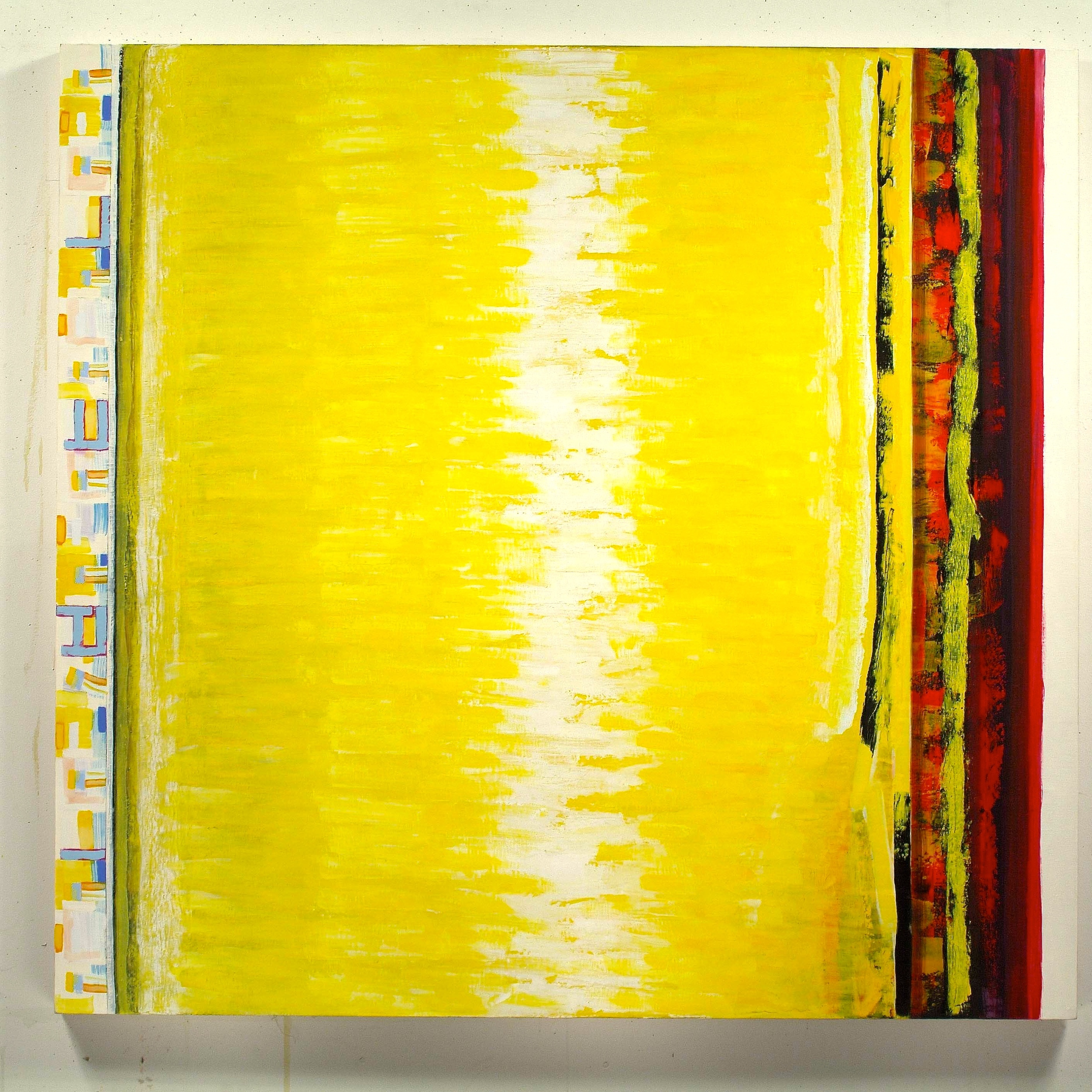 """Suspension in More than One Direction, 2001, oil on linen, 66 1/2""""x70""""x2"""""""