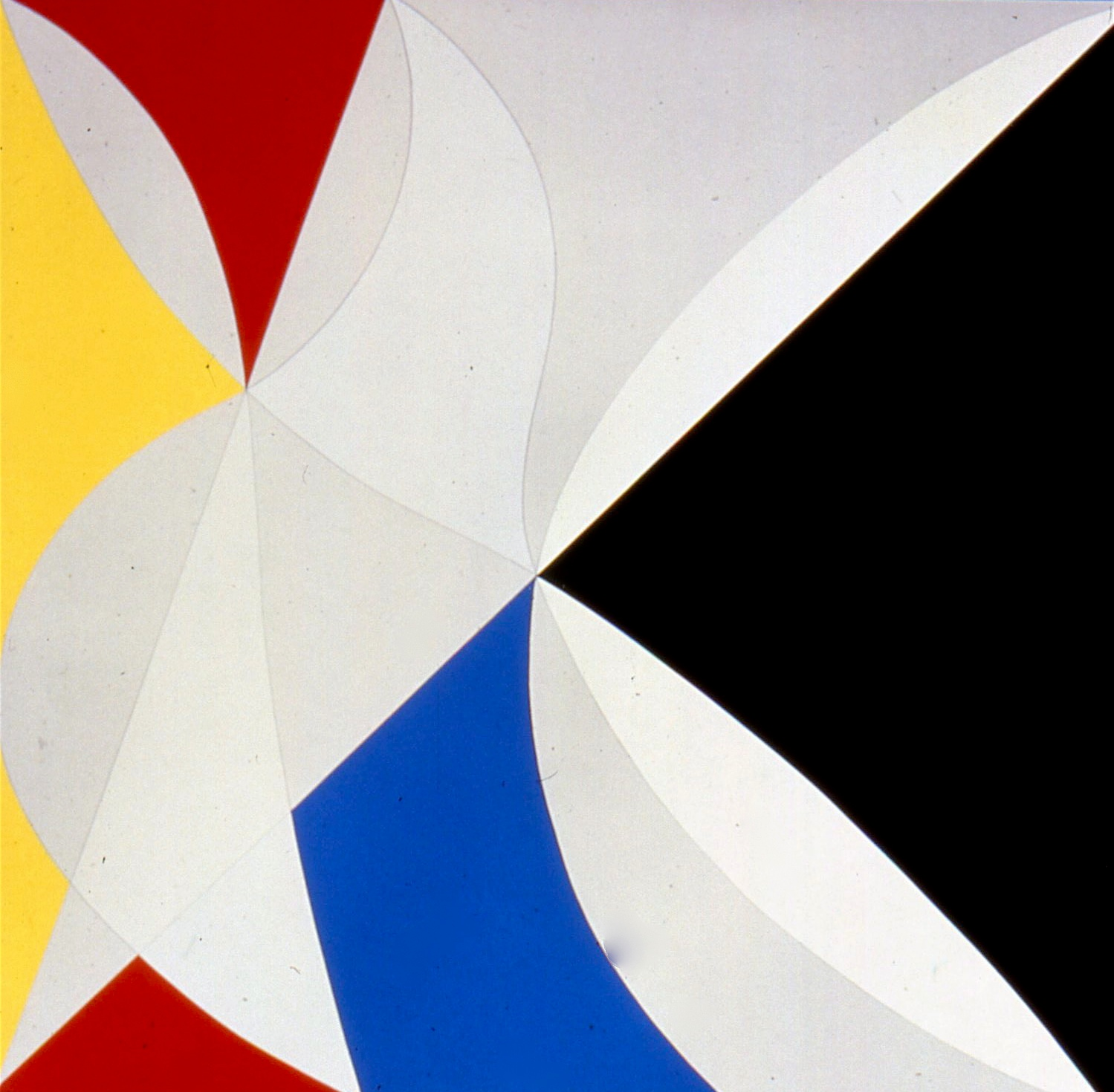 "Yellow, Grey, Blue, Black, Red, White. Ed. 15, 1985, silkscreen & pencil,  arches 88 paper, 50""x51"""