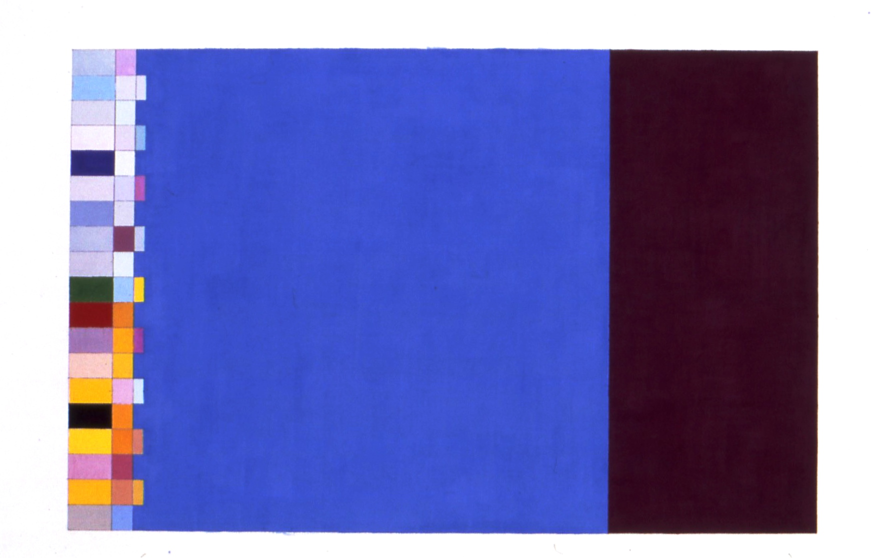 "Study For Order, Uncertainty, Movement, Immediacy, 1997, gouache on paper, 38""x24"""