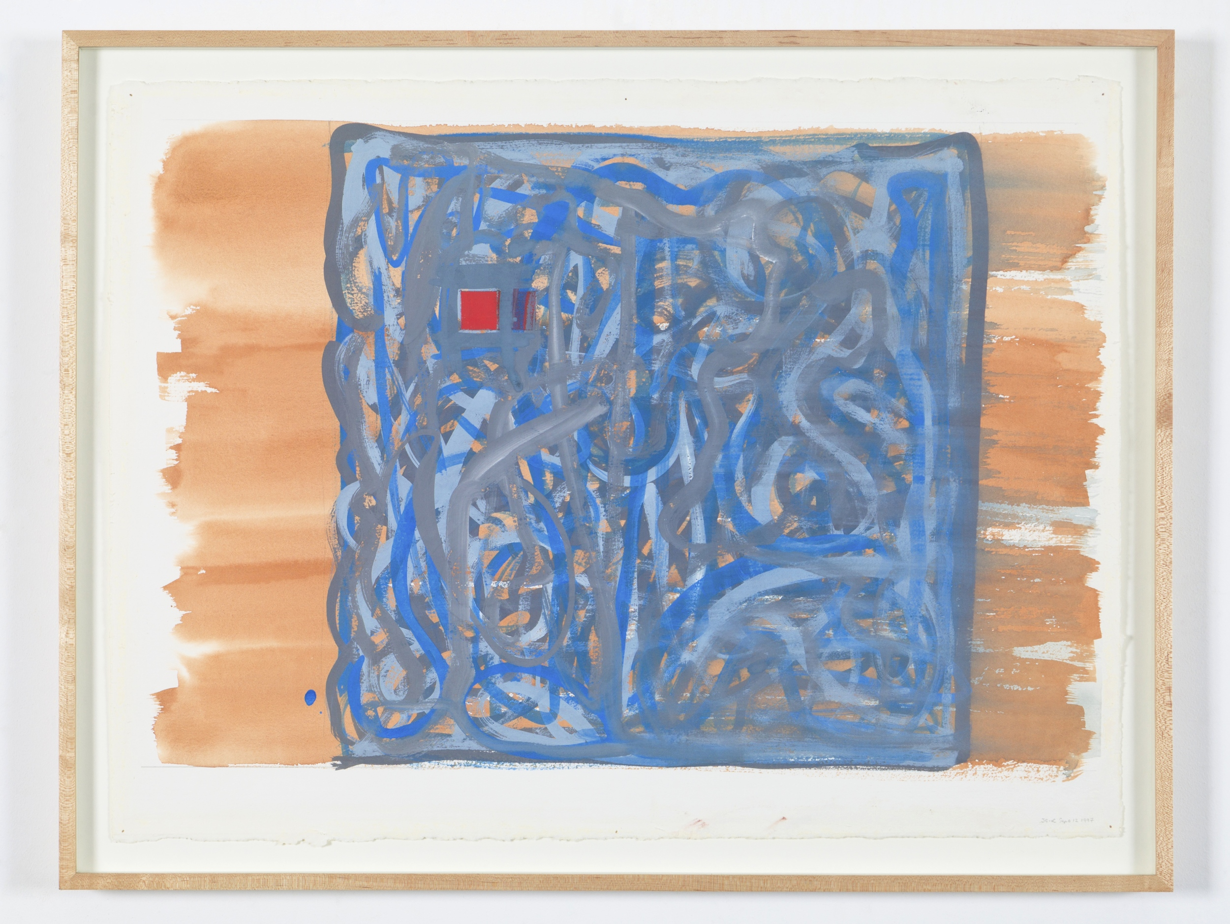 "Untitiled (Sept. 12 1997), 1997, goauche on paper, 1997, 25 1/4""x33"" (framed)"