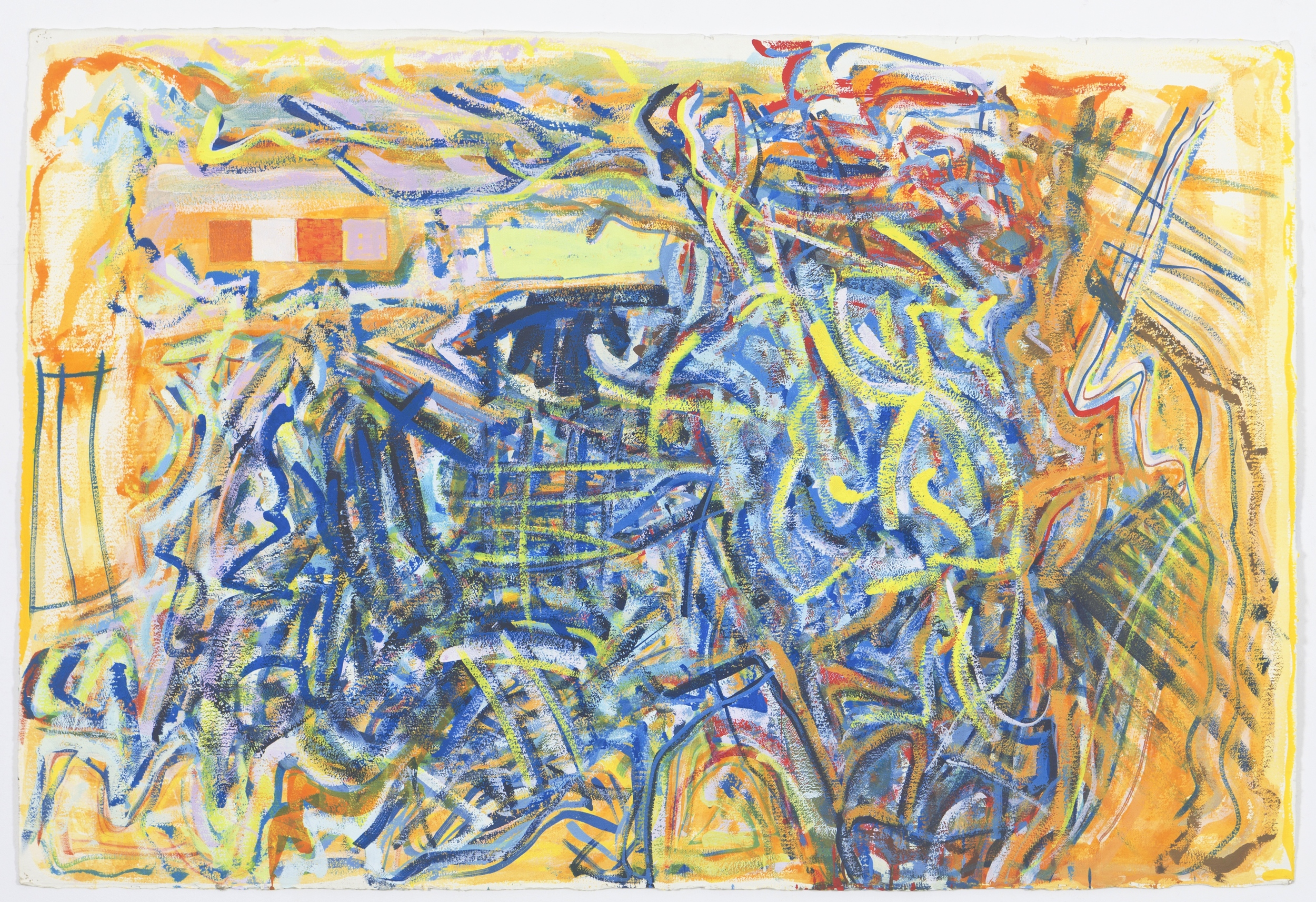 "Untitled, 1999, gouache and watercolour on paper, 40""x60"""