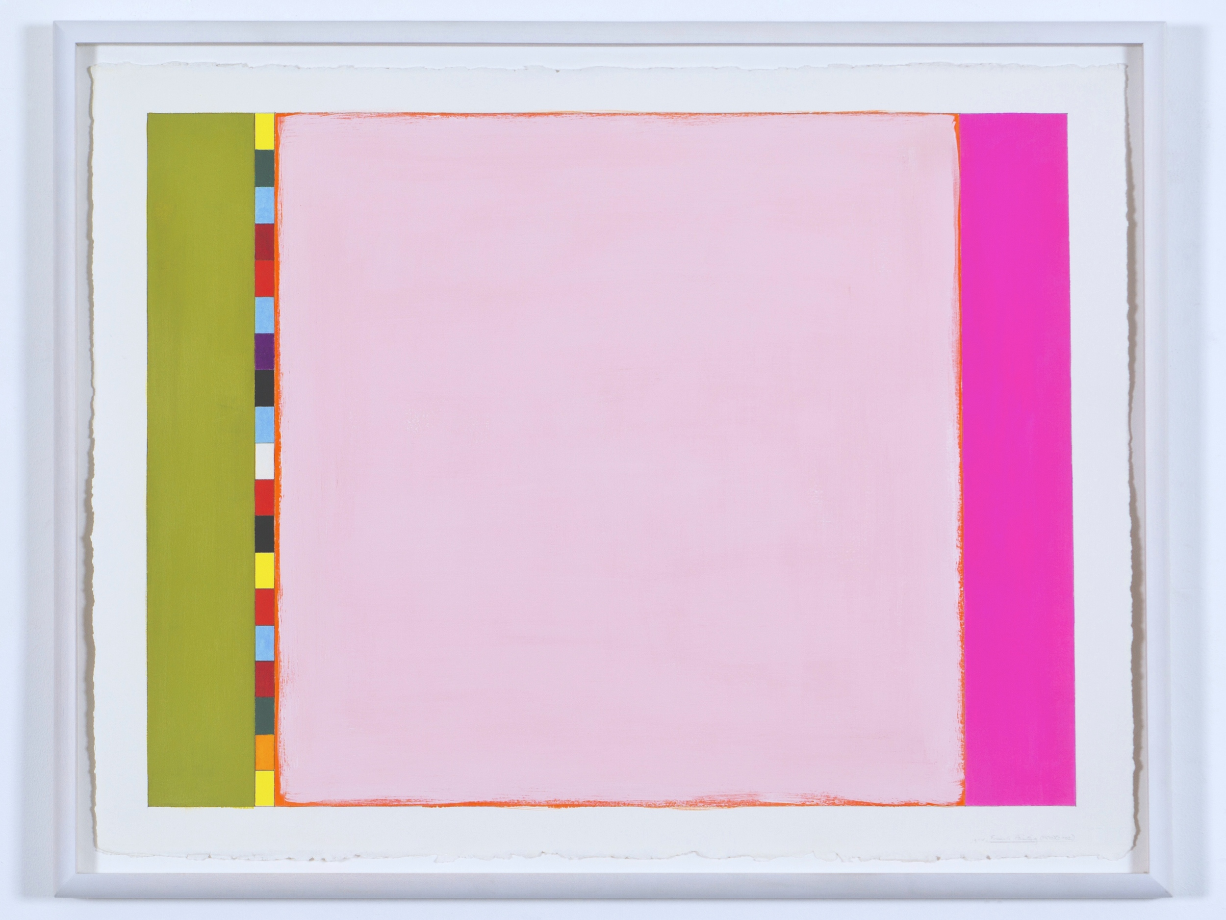 """French Painting (PG10), 2002, gouache on paper, 20 3/16""""x27 1/4""""(image), 23""""x31""""(paper)"""